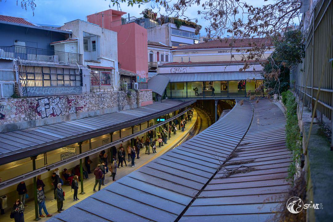 Monastiraki Metro Station