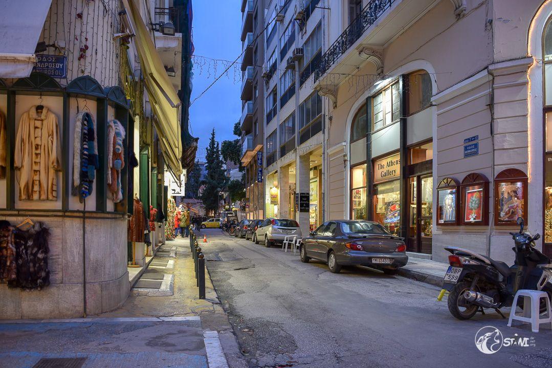 Athen am Abend