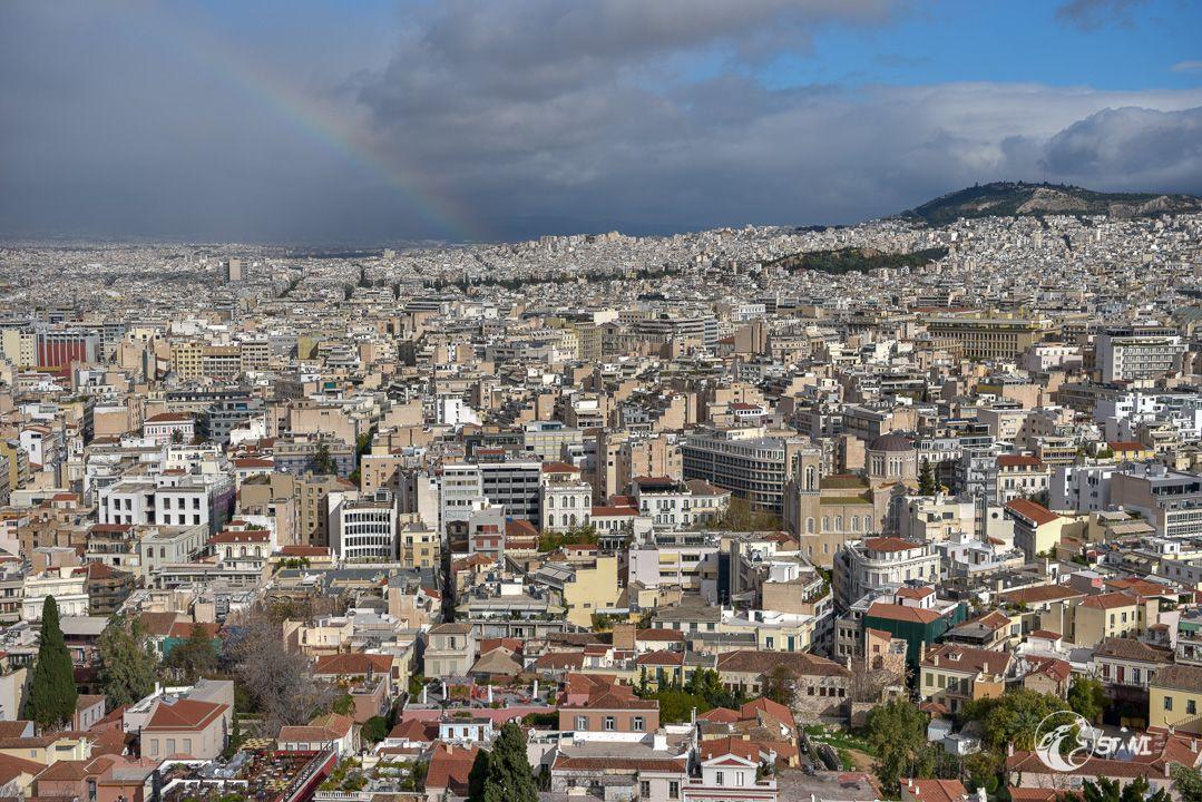 Regenbogen über Athen
