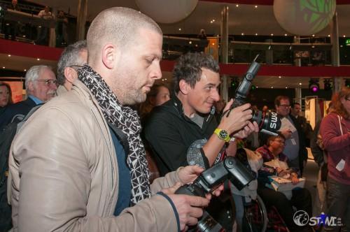 Prominente Fotografen, Andreas Waldschütz (Östereich) und Jef Briguet (Schweiz)