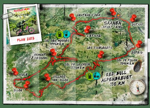 Strecke Red Bull Alpen Brevet.