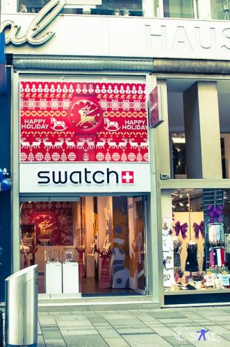 Kaum in der Stadt, schon den ersten Swatch Store gefunden.