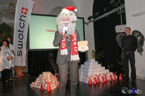 Carlo Santa Claus und das Swatch XMAS Event Special 2013.