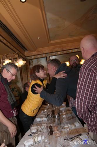 Begrüßung in der Brasserie Lipp.