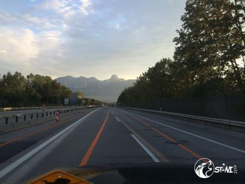 Ankunft im Berner Oberland.