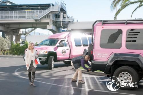 Auf zur Pink Jeep Tour.