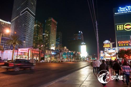 Las Vegas am frühen Abend.