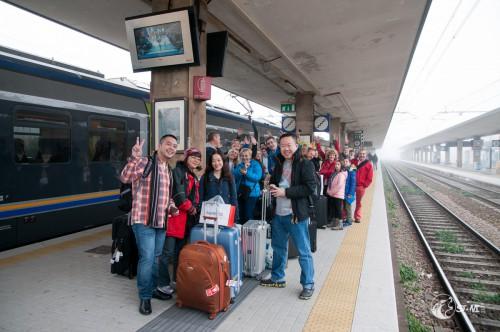 Unsere Reisegruppe von Treviso nach Venedig.