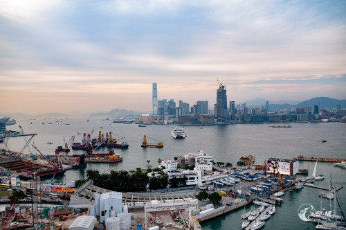 Sonnenuntergang in Hongkong.