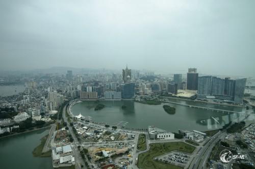 Mittagessen über Macau.