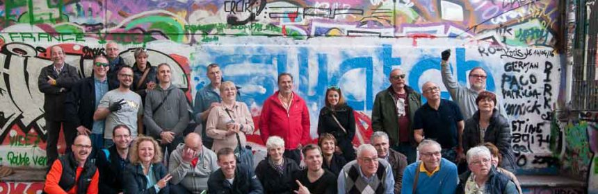 Gruppenfoto im Skatepark de Bercy